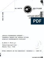 Apollo Experience Report Thermal Design of Apollo Lunar Surface Experiments Package