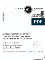 Apollo Experience Report Thermal Protection From Engine-Plume Environments