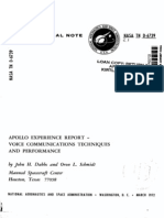 Apollo Experience Report Voice Communications Techniques and Performance