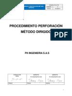 CT-03-PR PROCEDIMIENTO PERFORACION METODO DIRIGIDO