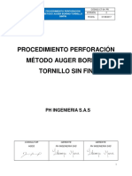 CT-04-PR PROCEDIMIENTO PERFORACION METODO AUGER BORING- TORNILLO SIN FIN