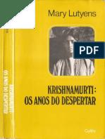 Os anos do despertar - Jiddu Krishnamurti por Mary Lutyens.pdf