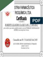 Certificado Brigada