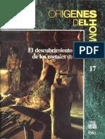 Origenes Del Hombre 17 El Descubrimiento de Los Metales I Folio 1993