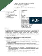 SILABO REDACCION Y TECNICAS DE COMUNICACION EFECTIVA I - EEG-2019-I