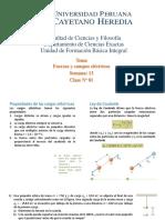 SEMANA 13(a)-Fuerzas y campos eléctricos-Energía eléctrica y capacitancia-Corriente y resistencia