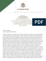 EPISTOLA OPTIME PROFECTO BENEDICTO XV