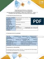 Guía de actividades y rubrica de evaluación – tarea - 3 Incidencia del aprendizaje en las áreas de la psicología . (5).docx
