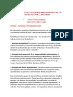 LEY QUE REGULA EL RÉGIMEN DISCIPLINARIO DE LA POLICÍA NACIONAL DEL PERÚ (1)