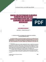 HACIA UN ESTÁNDAR EUROPEO COMÚN DE IGUALDAD- LA CONTRIBUCIÓN DEL COMITÉ EUROPEO DE DERECHOS SOCIALES