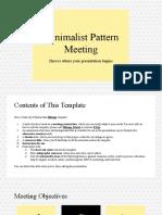 Minimalist Pattern Meeting by Slidesgo