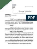 APERTURA DE LA INVESTIGACIÓN PRELIMINAR