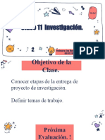 Clase 11  Investigación