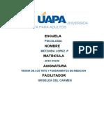 TAREA 6 TEORIA DE LOS TETS Y FUNDAMENTOS DE MEDICION