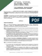 REGLAMENTO  DE PROYECTO DE GRADO