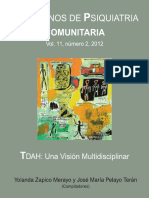 Cuadernos de psiquiatría comunitaria (Vol. 11, N° 2, 2012). TDHA_ una visión multidisciplinar (1)