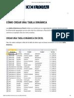 Cómo crear una tabla dinámica • Excel Total