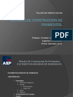 Clase 08 - METODOS DE CONSTRUCCION DE PAVIMENTOS rigido