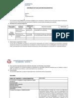 Inf. Evaluación Diagnóstica 3º Blanco