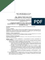 Ley Nº 114 Cesion de áreas verdes modificado
