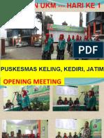 Masukan UKM hr 1 Puskesmas Keling, Kab Kediri, Jatim.ppt