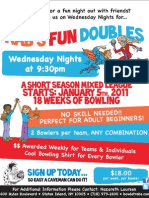 Rab's Country Lanes Fun Doubles Mixed League Flyer