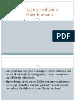 El Origen del ser humano(historia I)