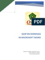 Profil Qur'an Kemenag in Microsoft Word