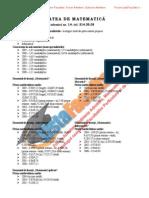 ListaFacultati.ro Subiecte Admitere Universitatea Bucuresti Mate Info 2007