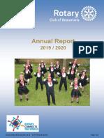 Beaumaris Rotary Annual Report 2020