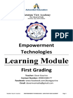 Learning Module - Empowerment Technologies