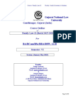 Course Outline Family Law II 2015 Batch