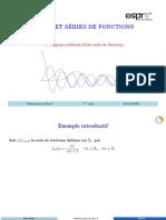 AA3 Convergence uniforme d'une suite de fonctions
