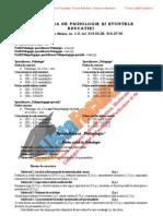 ListaFacultati.ro Subiecte Admitere Universitatea Bucuresti Psihologie 2002
