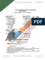 ListaFacultati.ro Subiecte Admitere Universitatea Bucuresti Psihologie 2004