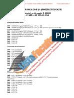 ListaFacultati.ro Subiecte Admitere Universitatea Bucuresti Psihologie 2009
