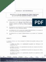 20160212 - Décision 2015-005 BRVM - Volume minimum de titres