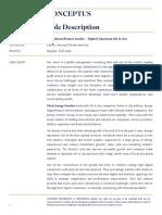 Role Description-Digital Upstream Oil & Gas