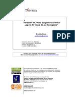 Relación de Pedro Burguillos sobre el Japón del inicio de los Tokugawa
