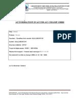 Autorisation d'acces Chauffeur HALLIBURTON Draoui