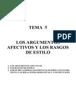 5. LOS ARGUMENTOS AFECTIVOS Y LOS RASGOS DE ESTILO.doc