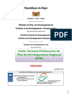 Guide national de formulation du PDR