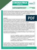 Nota Orientativa COE 42 RECOMENDACAO DO COE ACERCA DA DISPONIBILIZACAO DE MEDICAMENTOS PARA SUPOSTO TRATAMENTO DA COVID 19 17 julho 2020