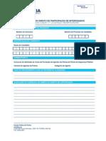 Formulário para o exercício do direito de participação dos interessados