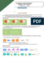 5 Semana 2 Bimestre - Matemática - 6 E  - Prof Solange Revisão de fração