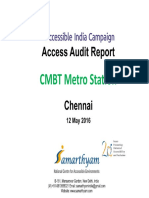 21. Chennai CMBT Metro Station AIC Access Audit report