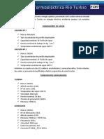 CENTRAL TERMOELÉCTRICA A CARBÓN 21 MW - descripción general