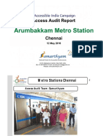 20. Arumbakkam Metro Station Chennai AIC Access Audit Report