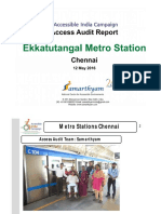 17. Ekatuntatangal Metro Station  Chennai AIC Access Audit Report
