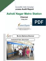 18. Ashok Nagar Metro Station  Chennai AIC Access Audit Report